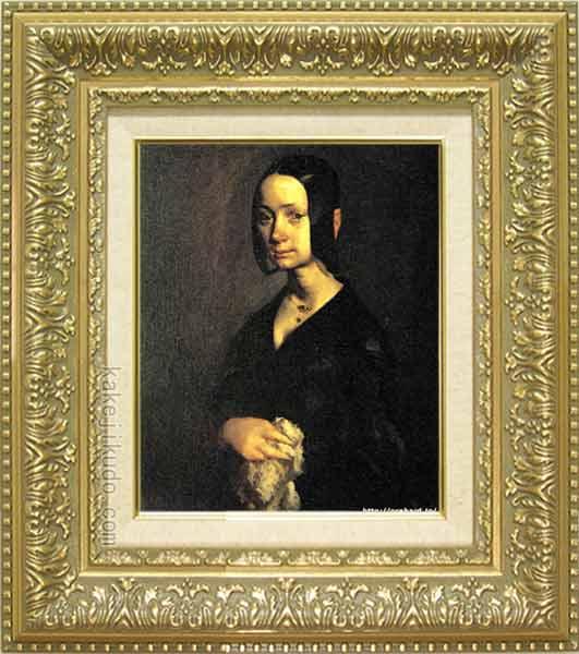 【60%OFF】 ミレー 絵画 ポーリーヌ・オノの肖像 F3号 送料無料 【複製】【美術印刷】【世界の名画】【3・4号】, HASHIMOTO SEED 5991b36b