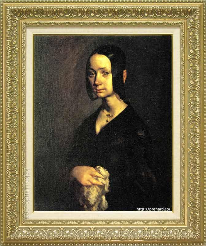 ミレー 絵画 ポーリーヌ・オノの肖像 P10号 送料無料 【複製】【美術印刷】【世界の名画】【10号】