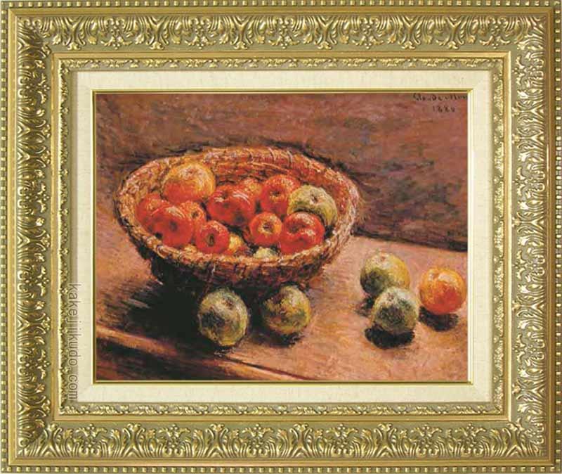 モネ 絵画 リンゴの入った籠 F6号 送料無料 【複製】【美術印刷】【世界の名画】【6号】