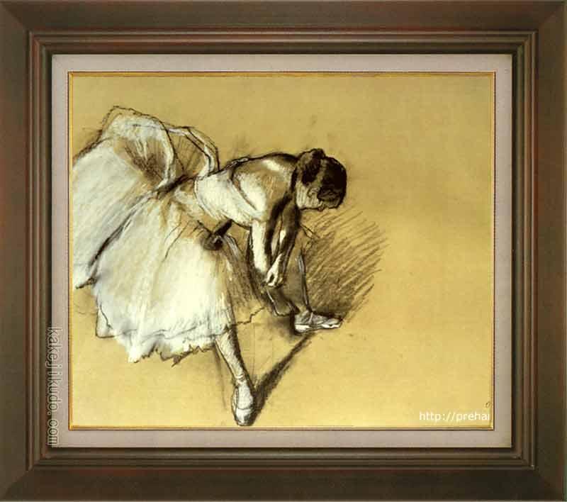 ドガ 絵画 靴下を直す踊り子 F8号 送料無料 【複製】【美術印刷】【世界の名画】【8号】