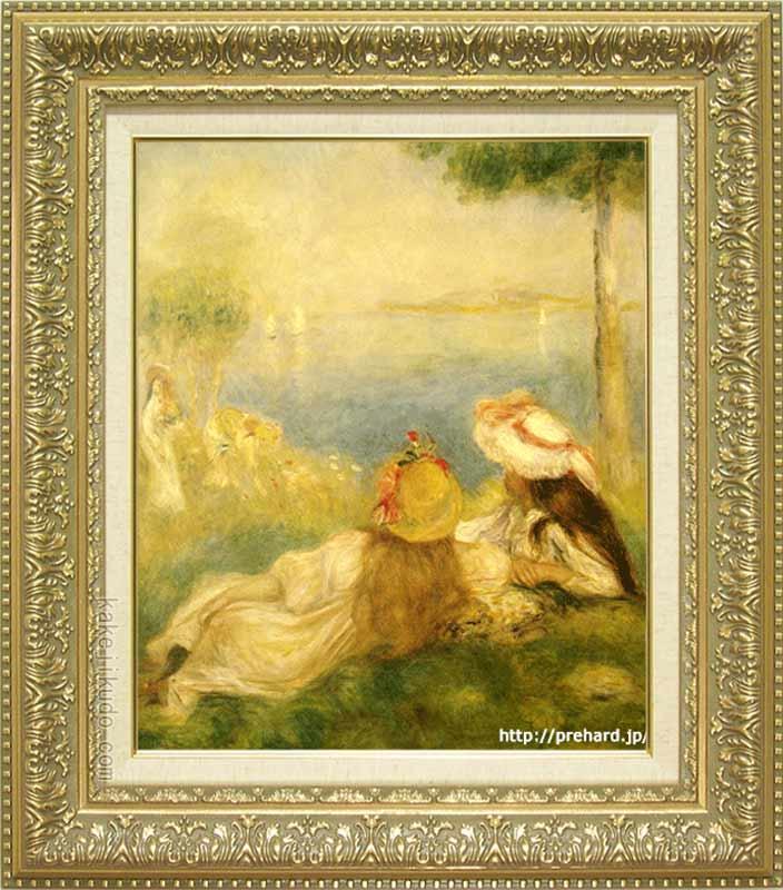 ルノアール 絵画 海辺の若い娘達 F8号 送料無料 【複製】【美術印刷】【世界の名画】【8号】