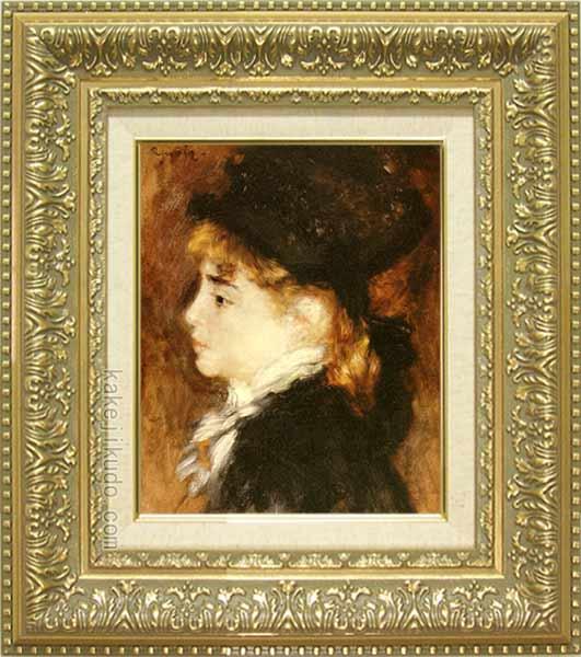 ルノアール 絵画 モデルの肖像 F3号 送料無料 【複製】【美術印刷】【世界の名画】【3・4号】