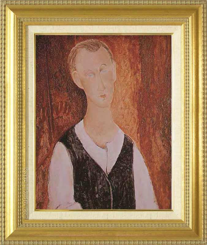 モディリアーニ 絵画 若き農夫の肖像 F6号 送料無料 【複製】【美術印刷】【世界の名画】【6号】