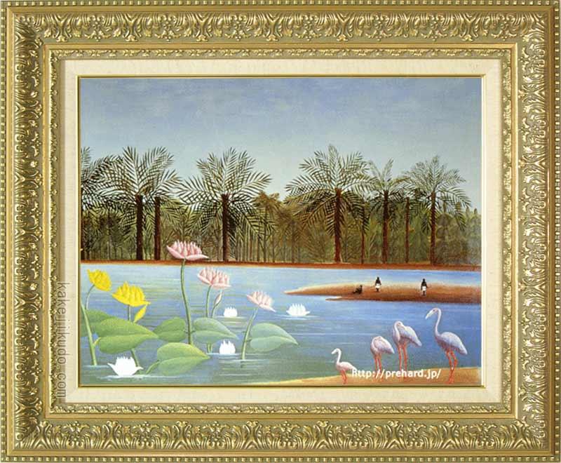 ルソー 絵画 紅鶴 P10号 送料無料 【複製】【美術印刷】【世界の名画】【10号】
