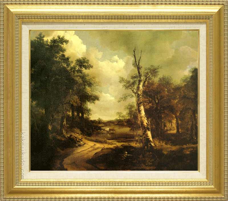 ゲインズボロー 絵画 ドリンクストーンの大庭園 F8号 送料無料 【複製】【美術印刷】【世界の名画】【8号】