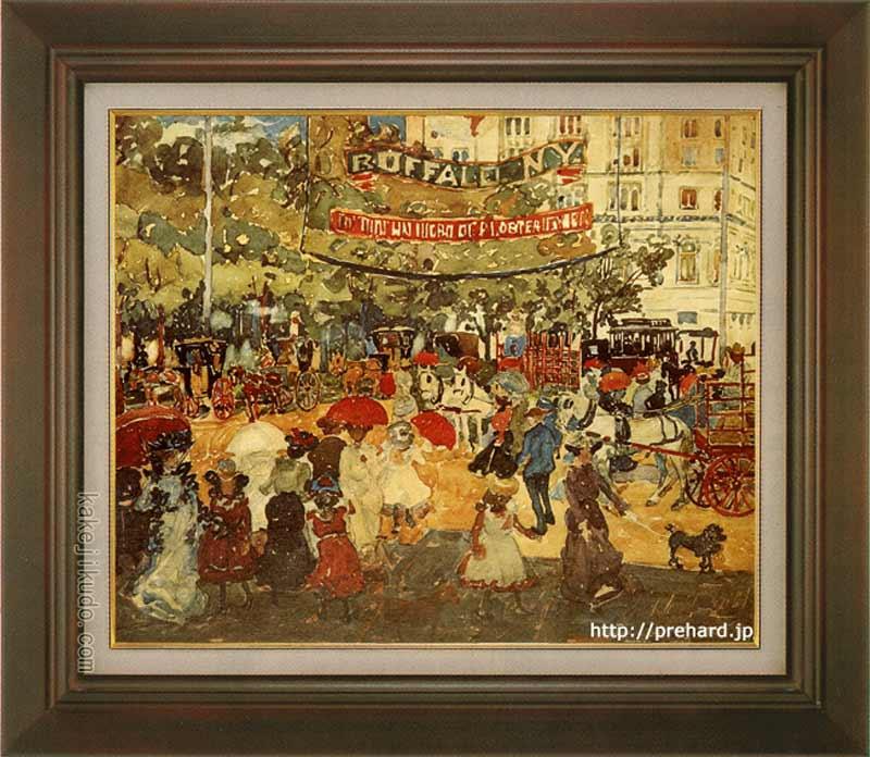 プレンダガスト 絵画 マジソン・スクエア F8号 送料無料 【複製】【美術印刷】【世界の名画】【8号】