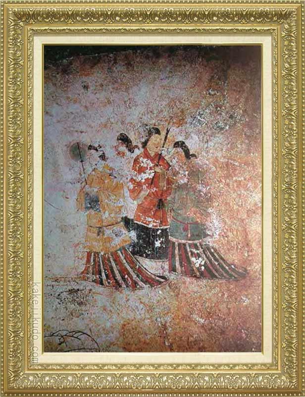 絵画 高松塚古墳壁画(西) M20A号 送料無料 【複製】【美術印刷】【世界の名画】【大型絵画】