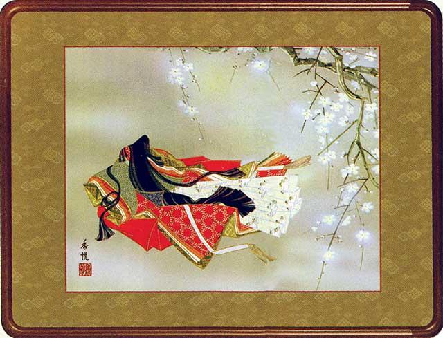 絵画(和装額) 小野小町 (西尾香悦) 送料無料