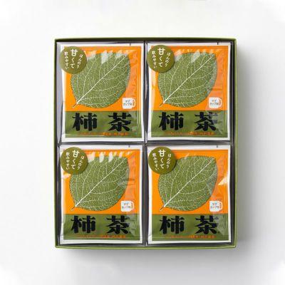 中古 柿茶40杯ギフトセット マグカップ用5袋×8箱 A-7 新品 送料無料