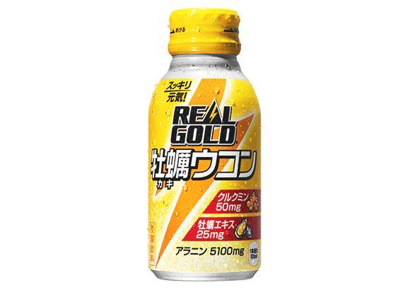 全国送料無料 リアルゴールド牡蠣ウコン 100mlボトル缶×30本×3ケース 代金引換不可 コカコーラ製品