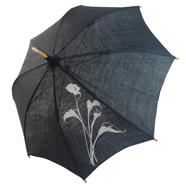 麻の日傘:藍鉄染め カラー