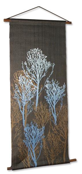 本麻藍渋染めタペストリー 朽木