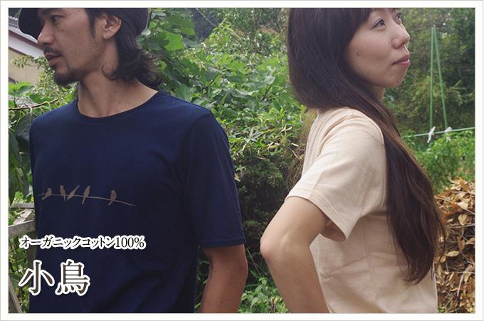 オーガニックコットンTシャツ: 小鳥