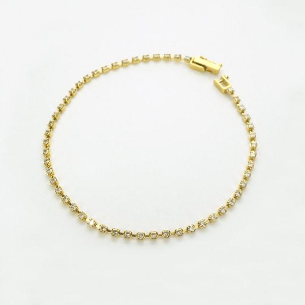 K18 イエローゴールド ダイヤモンド ブレスレット 日本製ブレスレット ダイアモンド ゴールド k18 18k 18金 レディース ジュエリー ギフト プレゼント ラッピング 送料無料