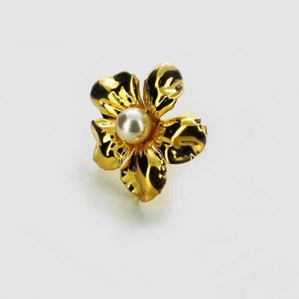 K18 イエローゴールド パール 花 イヤリング 日本製イヤリング 真珠 ゴールド k18 18k 18金 レディース ジュエリー ギフト プレゼント ラッピング
