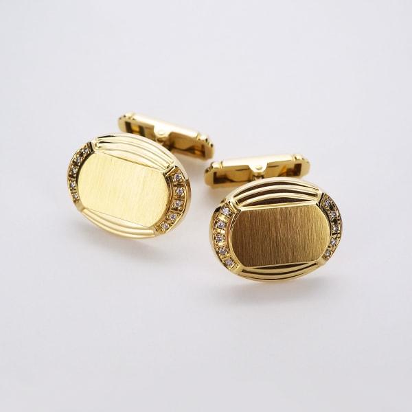 K18 イエローゴールド ダイヤモンド カフス 日本製カフス ダイアモンド ゴールド k18 18k 18金 メンズ ジュエリー ギフト プレゼント ラッピング 送料無料