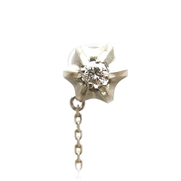 K14 ホワイトゴールド ダイヤモンド タイタック 日本製タイピン タイタック ダイアモンド K14 14k 14K 14金 ゴールド ジュエリー メンズ 男性 ギフト プレゼント ラッピング 送料無料
