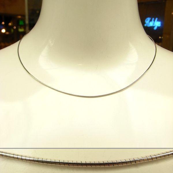 K18 ホワイトゴールド オメガネックレス イタリア製ネックレス ゴールド k18 18k 18金 レディース ジュエリー ギフト プレゼント ラッピング 送料無料