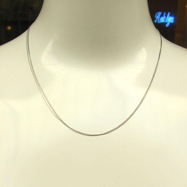 K18 ホワイトゴールド ネックレス イタリア製ネックレス ゴールド k18 18k 18金 レディース ジュエリー ギフト プレゼント ラッピング 送料無料