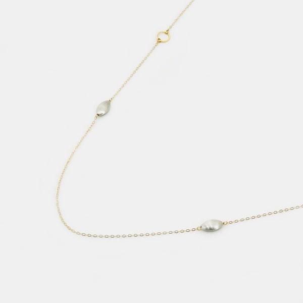 K18 イエロー・ホワイトゴールド ネックレス イタリア製ネックレス ゴールド k18 18k 18金 レディース ジュエリー ギフト プレゼント ラッピング 送料無料