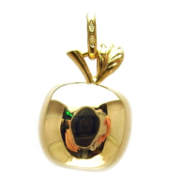 ウノアエレ K18 ゴールド リンゴ ペンダントトップ イタリア製ペンダントトップ りんご ゴールド k18 18k 18金 レディース ジュエリー ギフト プレゼント ラッピング 送料無料