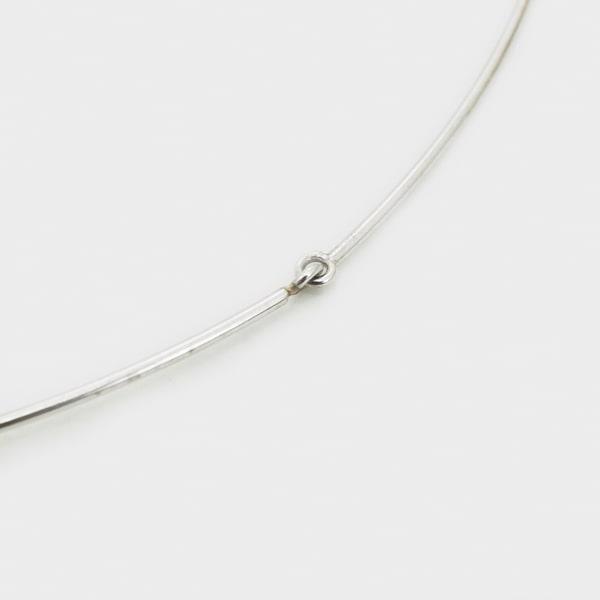 K18 ホワイトゴールド ダイヤモンド オメガネックレス イタリア製ネックレス ダイアモンド ゴールド k18 18k 18金 レディース ジュエリー ギフト プレゼント ラッピング