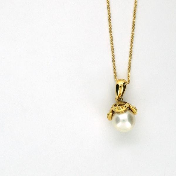 限定1点 ネックレス ペンダント パール ギフト 真珠 ゴールド k18 18k 18金 K18 人気の製品 ジュエリー ラッピング ギフト プレゼント 日本製ネックレス 送料無料 プチネックレス イエローゴールド レディース