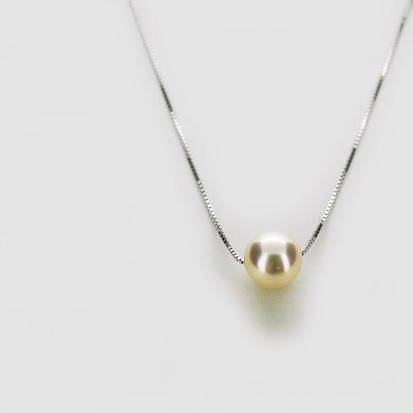 K18 ホワイトゴールド パール プチネックレス 日本製ネックレス ペンダント 真珠 ゴールド k18 18k 18金 レディース ジュエリー ギフト プレゼント ラッピング 送料無料
