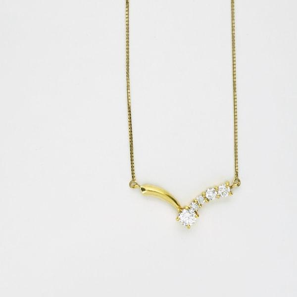 K18 イエローゴールド ダイヤモンド プチネックレス 日本製ネックレス ペンダント ダイアモンド ゴールド k18 18k 18金 レディース ジュエリー ギフト プレゼント ラッピング 送料無料