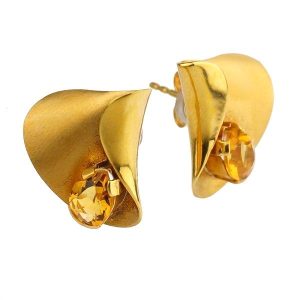 K18 イエローゴールド トパーズ スタッドピアス ドイツ製ピアス キャッチ スタッド トパーズ ゴールド k18 18k 18金 レディース ジュエリー ギフト プレゼント ラッピング 送料無料