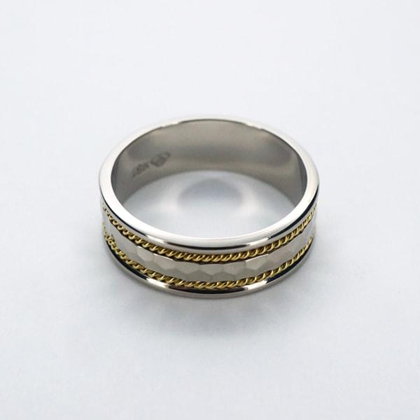 トレソロ K18 イエロー・ホワイトゴールド リング カナダ製指輪 ゴールド k18 18k 18金 レディース ジュエリー ギフト プレゼント ラッピング 送料無料