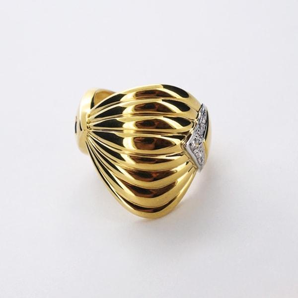 K18 イエローゴールド Pt900プラチナ ダイヤモンド リング 日本製指輪 ダイアモンド プラチナ ゴールド k18 18k 18金 レディース ジュエリー ギフト プレゼント ラッピング 送料無料