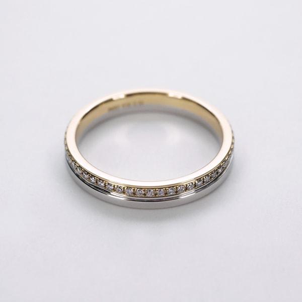Pt950プラチナ K18 イエローゴールド ダイヤモンド リング 日本製指輪 ダイアモンド プラチナ ゴールド k18 18k 18金 レディース ジュエリー ギフト プレゼント ラッピング 送料無料