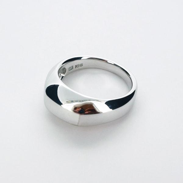 K18 ホワイトゴールド リング 日本製指輪 ゴールド k18 18k 18金 レディース ジュエリー ギフト プレゼント ラッピング 送料無料