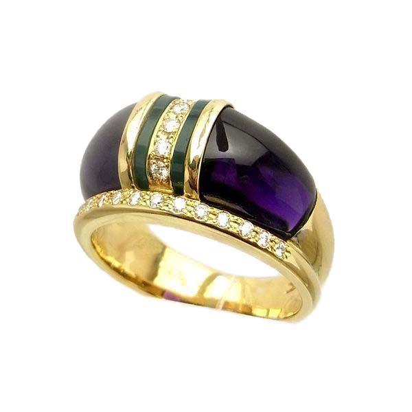 限定1点 大人気 指輪 リング ダイヤモンド アメジスト メノウ ゴールド k18 18k 18金 K18 ギフト ラッピング アゲート ジュエリー ダイアモンド イエローゴールド 送料無料 レディース 日本製指輪 通常便なら送料無料 プレゼント