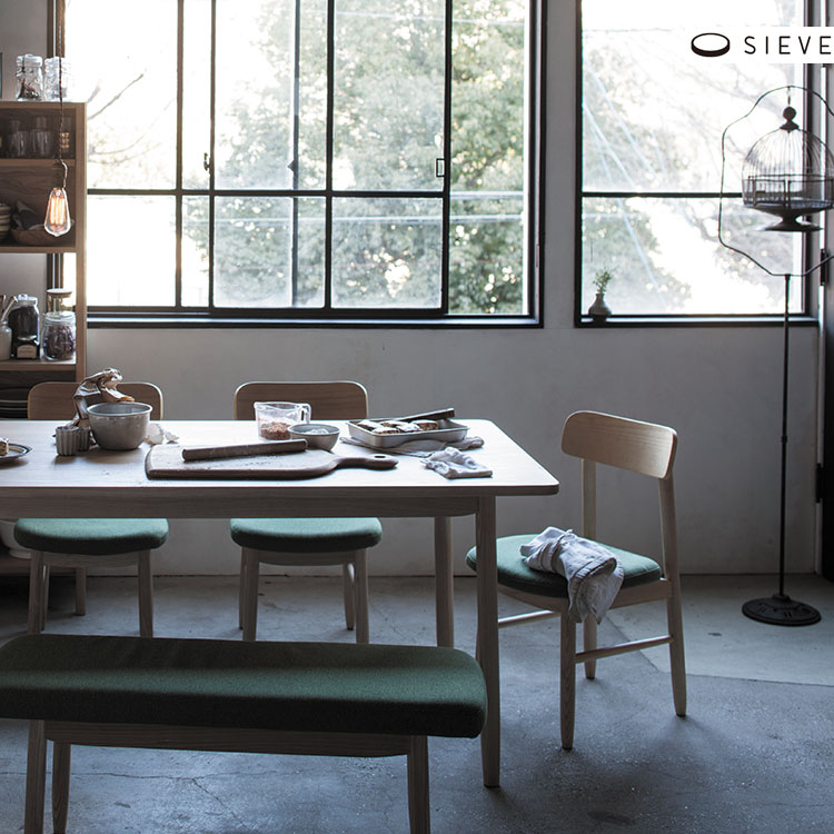 【メーカー直送品】SIEVE シーヴ saucer dining table Msize ソーサー ダイニングテーブル Mサイズ W1400mm SVE-DT004M【木製 無垢材 北欧 テイスト ナチュラル シンプル モダン おしゃれ 新生活】