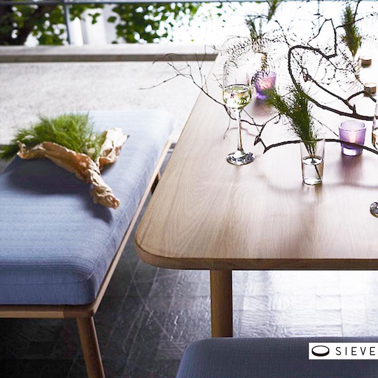 【送料無料 ポイント3倍】SIEVE シーヴ fluff dining bench フラッフダイニングベンチ 2人掛け SVE-DB005【ソファ ソファー チェア 椅子 2人 2P 1人暮らし リビング ダイニング 木 木製 ブラウン ナチュラル シンプル モダン 北欧 おしゃれ家具】