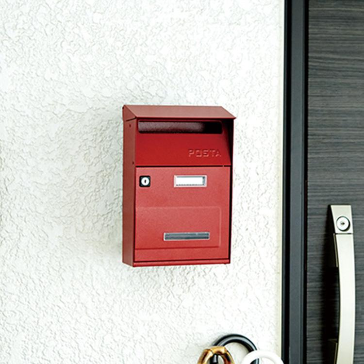 郵便ポスト 西海岸 玄関 壁付け ハンマートン加工 鍵付き アメリカンポスト HERMOSA製 サーフ系 メールボックス 郵便受け アメリカンでオールドフェイスなポスト インテリア おしゃれ 門用エクステリア フラッグ A4サイズ対応