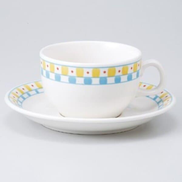 在庫限り カフェ レストラン 喫茶 バル 居酒屋 飲食店 期間限定特価品 業務用 の他にも 家庭用 皿15.8x2.2cm 約245cc スープカップに最適 約碗11.5x9.4x6cm キュービックティー碗皿 美濃焼 ランチやモーニングの紅茶 ティーカップ ソーサー にもぴったり 限定特価