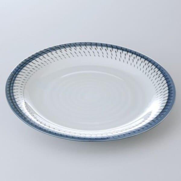 在庫限り バル 居酒屋 飲食店 業務用にぴったり 販売 魚やお肉のおかずやおつまみ さざ波70皿 主食皿 美濃焼 約23.6x2.9cm 軽めの一品料理にも使いやすいうつわです 人気ブランド多数対象