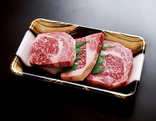 ステーキ肉 熟成肉 セット 国産 牛 ギフト 黒毛和牛 ギフト 送料無料 格之進 門崎 特選ロース (100g×3枚)