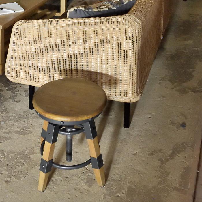 【5%ポイント還元】Capell カペル スツール ロータイプ 座面昇降機能付き カフェチェア 天然木 スチール ミニチェア バーチェアチェア 椅子 いす イス