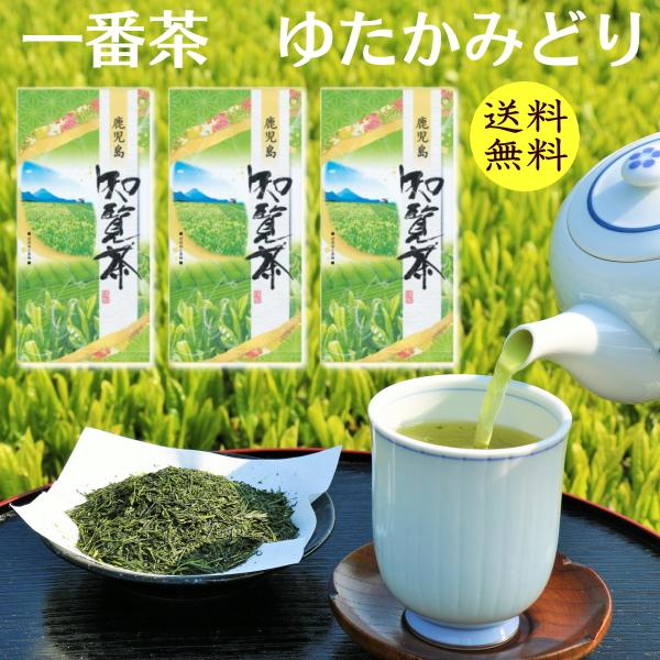 2021年産 高級ゆたかみどり 物品 一番茶 知覧茶 80g3本 鹿児島産 お茶 ゆたかみどり 緑茶 送料無料 煎茶 超特価SALE開催