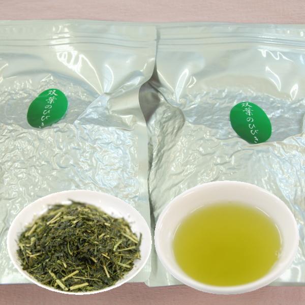 2020年産 お茶 鹿児島茶 静岡茶 双葉のひびき たっぷり1キロ 500g×2個 1Kg 送料無料 待望 茶葉 煎茶 使いやすいチャック袋入り 緑茶 ついに再販開始