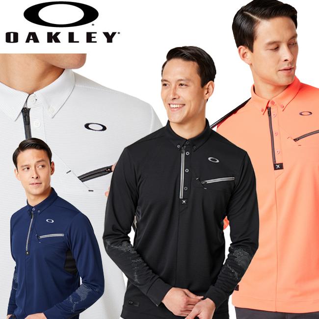 オークリー ゴルフ OAKLEY GOLF 長袖ジップシャツ  Skull Muscular Zip Shirts 434484JP