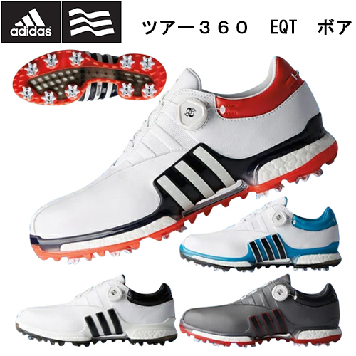 最終処分 2018年モデル 日本正規品 adidas アディダス TOUR 360 EQT BOA ツアー360EQTボア ソフトスパイク ゴルフシューズ