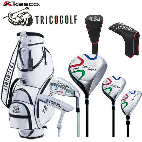 Kasco キャスコ TRICO GOLF トリコゴルフ クラブセット 10本セット キャディバック ヘッドカバー付き