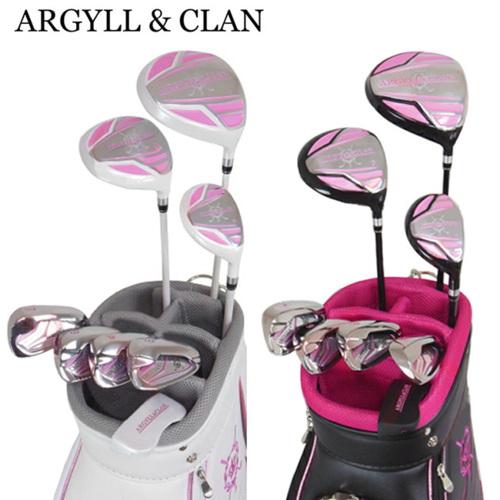 ARGYLL & CLAN アーガイルアンドクラン レディース キャディーバッグ付きゴルフクラブ8本セット A&C-601L