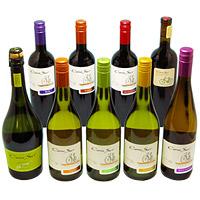 人気のチリワイン コノスル9本 ワインセット (泡1本・白4本・赤4本) 750ML*9ホン 1セット 【ワインセット】