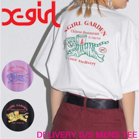 X-girl エックスガール Tシャツ DELIVERY S/S MENS TEE レディース 半袖 05192105